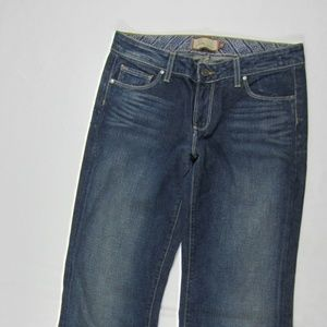 Paige Dark Wash Topanga Canyon Trouser Jeans 28